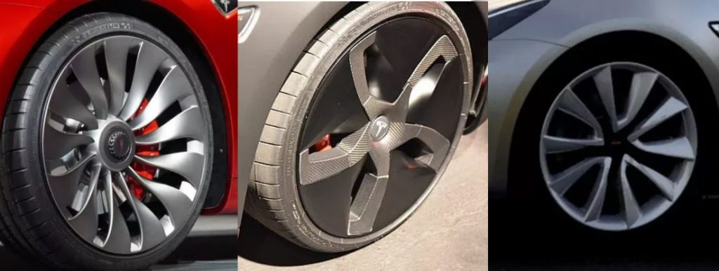 Tesla Model 3 velg opties